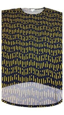 IRMA Black and Yellow Large (L) LuLaRoe Tunic fits 15.99-18