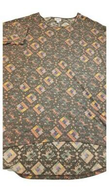 IRMA Multicolor Geometric Large (L) LuLaRoe Womens Tunic Fits Sizes 15.99-18