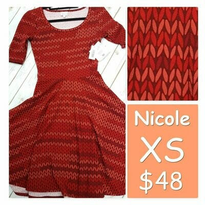 NICOLE X-Small (XS) LuLaRoe Womens Dress