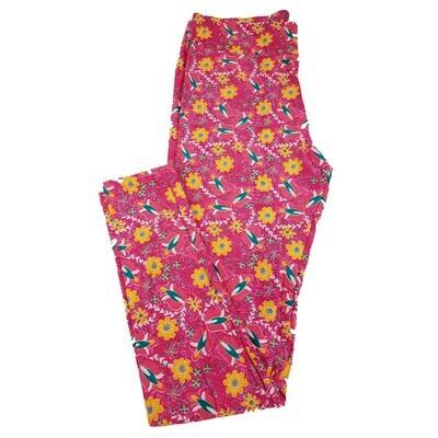 LuLaRoe Tall Curvy TC Floral Geometric Leggings fits 12-18