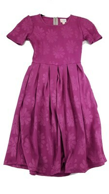 AMELIA Pink Embossed Floral XX-Small (XXS) LuLaRoe Womens Dress for sizes 00-0