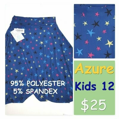 AZURE Kids 12 LuLaRoe Womens Skirt