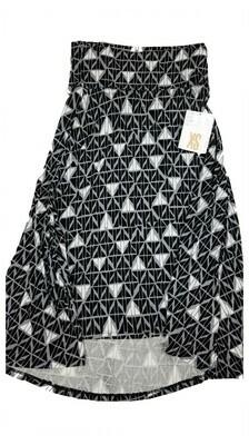 AZURE X-Small (XS) Black Grey and White Jets LuLaRoe Skirt Sizes 00-0