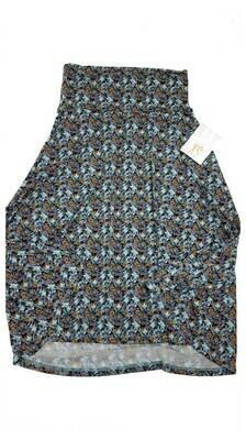 AZURE X-Small (XS) Black Grey Lavender Yellow LuLaRoe Skirt Sizes 00-0