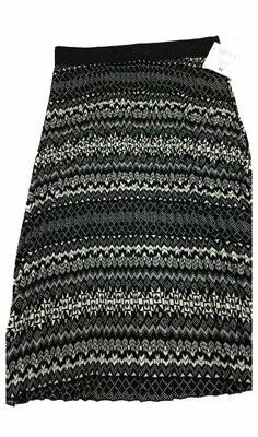 LuLaRoe Jill Cream and Black Medium (M) Accordion Women's Skirt fits Sizes 10-12