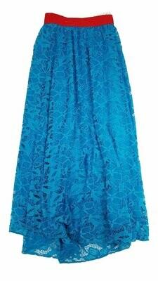 LuLaRoe Lucy Floral XX-Small (XXS) Floor Length Women's Skirt fits Sizes 00-0