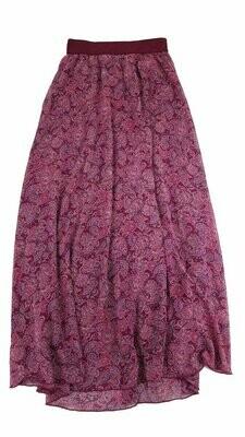 LuLaRoe Lucy Paisley XX-Small (XXS) Floor Length Women's Skirt fits Sizes 00-0