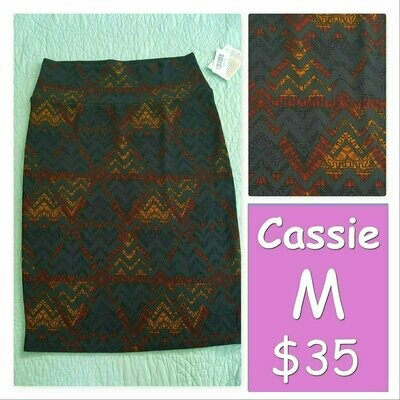 Cassie Medium (M) LuLaRoe Womens Knee Length Pencil Skirt fits 10-12