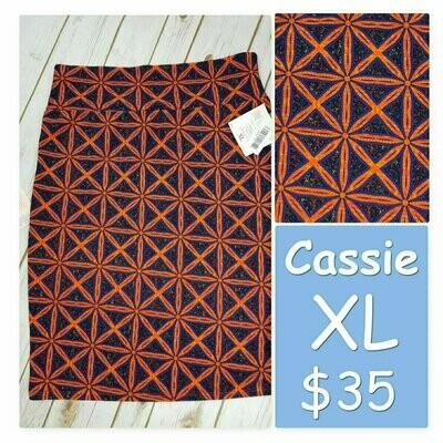 Cassie X-Large (XL) LuLaRoe Womens Knee Length Pencil Skirt fits 18-20