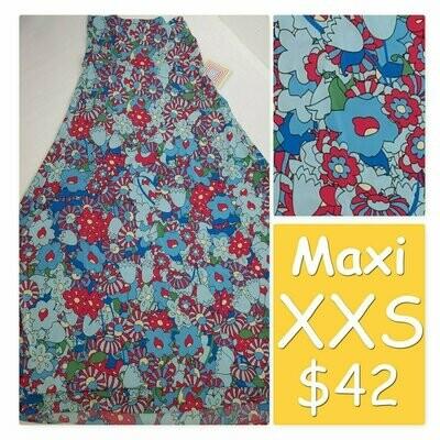 MAXI XX-Small (XXS) LuLaRoe Womens A-Line Skirt fits 00-0