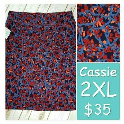 Cassie XX-Large (2XL) LuLaRoe Womens Knee Length Pencil Skirt fits 22-24