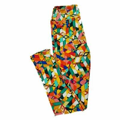 Tween LuLaRoe Leggings Geometric Fits Adult Sizes 00-0