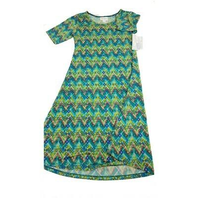 Kids Adeline LuLaRoe Swing Dress Size 10 fits kids 8-10