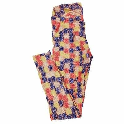 Tween LuLaRoe Leggings Floral Geometric Fits Adult Sizes 00-0