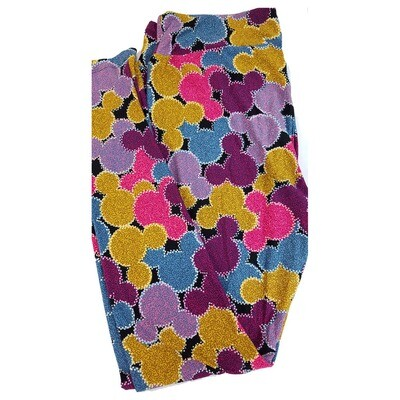 LuLaRoe Tall Curvy TC Disney Mickey Mouse Geometric Adult Leggings fits 12-18