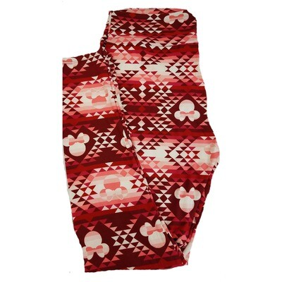 LuLaRoe Tall Curvy TC Disney Minnie Mouse Geometric Adult Leggings fits 12-18