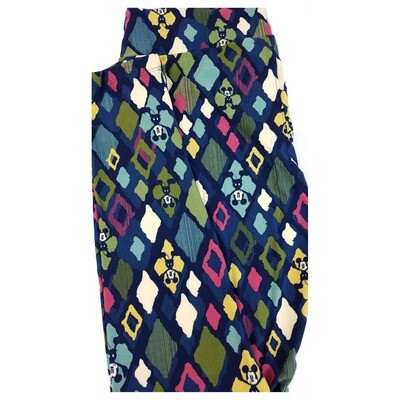 LuLaRoe Tall Curvy TC Disney Mickey Mouse Roses Diamonds Blue White Green Pink Adult Leggings fits 12-18