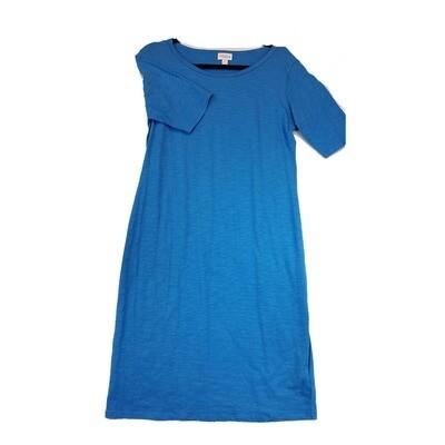 JULIA X-Large XL Solid Blue Form Fitting Dress fits sizes 15-18