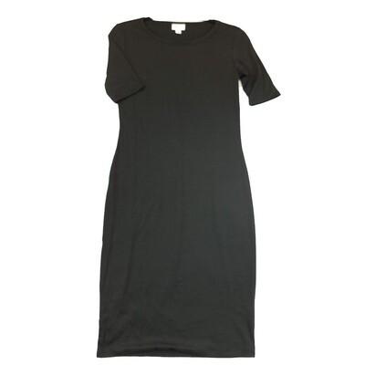 JULIA X-Small XS Solid Black Form Fitting Dress fits sizes 2-4
