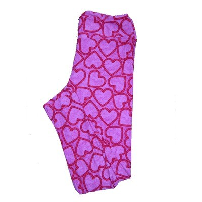 LuLaRoe Tall Curvy ( TC ) Valentines Pink Red Hearts Leggings fits Adult sizes 12-18