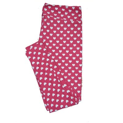 LuLaRoe Tall Curvy ( TC ) Valentines Green Black White Polka Dot Hearts Leggings fits Adult sizes 12-18