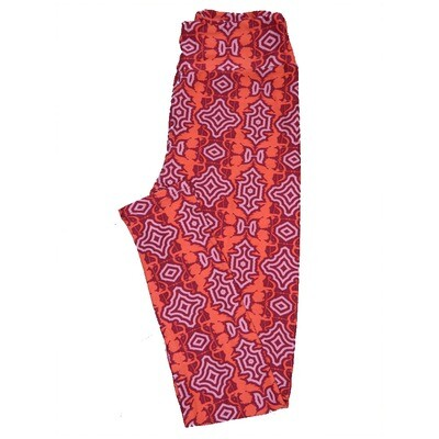 LuLaRoe One Size ( OS ) Valentines Red Pink Cupids Arrows Geometric Hearts Leggings fits Adult sizes 2-10