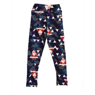 LuLaRoe Kids Small-Medium Christmas Santa Claus St Nick Geometric Leggings ( S/M fits kids 2-8 ) SM-1005-F