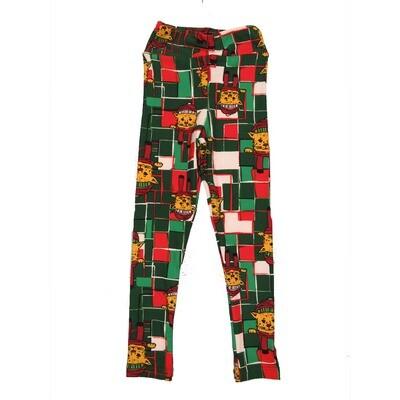 LuLaRoe Kids Small-Medium Christmas Puppy Dog Geometric Leggings ( S/M fits kids 2-8 ) SM-1005-J