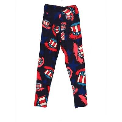 LuLaRoe Kids Small-Medium Americana Uncle Same Hat Leggings ( S/M fits kids 2-8 ) SM-1004-E