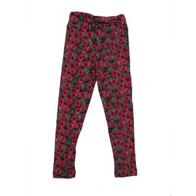 LuLaRoe Kids Small-Medium Floral Geometric Leggings ( S/M fits kids 2-8 ) SM-1001-T