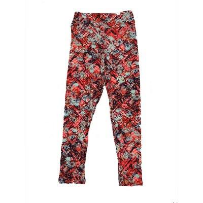 LuLaRoe Kids Small-Medium Floral Geometric Leggings ( S/M fits kids 2-8 ) SM-1002-K