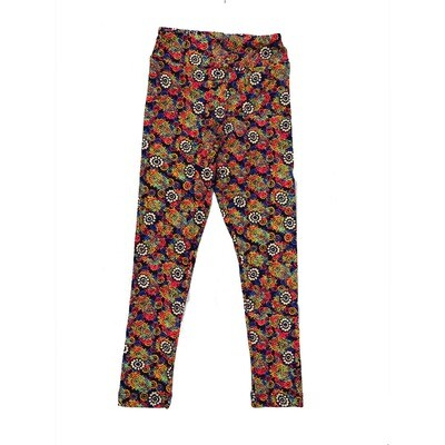 LuLaRoe Kids Small-Medium Floral Geometric Polka Dot Leggings ( S/M fits kids 2-8 ) SM-1001-Y