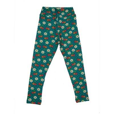 LuLaRoe Kids Small-Medium Floral Geometric Polka Dot Stripe Leggings ( S/M fits kids 2-8 ) SM-1001-Z
