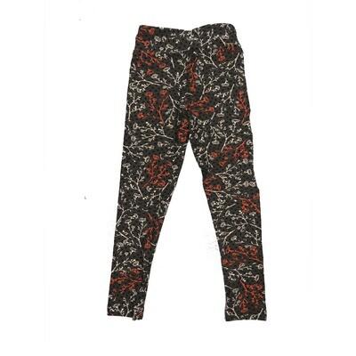 LuLaRoe Kids Small-Medium Floral Leggings ( S/M fits kids 2-8 ) SM-1001-C