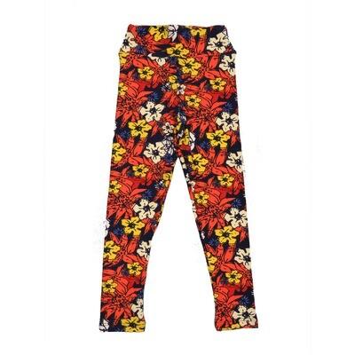 LuLaRoe Kids Small-Medium Floral Leggings ( S/M fits kids 2-8 ) SM-1001-P