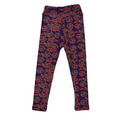 LuLaRoe Kids Small-Medium Floral Leggings ( S/M fits kids 2-8 ) SM-1001-W