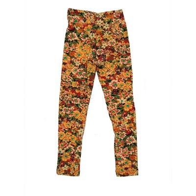 LuLaRoe Kids Small-Medium Floral Leggings ( S/M fits kids 2-8 ) SM-1001-X
