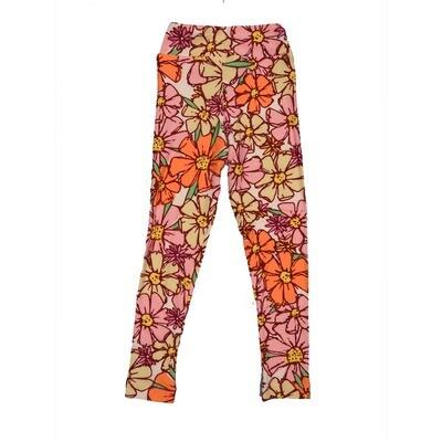 LuLaRoe Kids Small-Medium Floral Leggings ( S/M fits kids 2-8 ) SM-1002-O