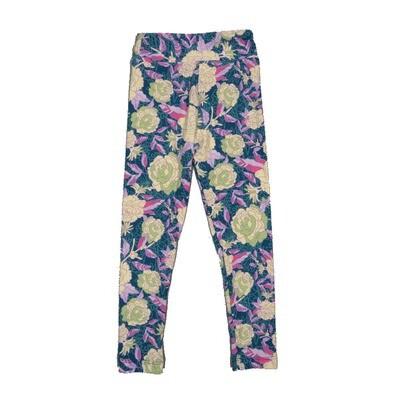 LuLaRoe Kids Small-Medium Floral Leggings ( S/M fits kids 2-8 ) SM-1002-P
