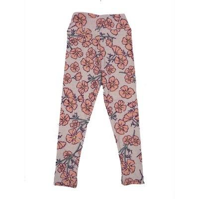 LuLaRoe Kids Small-Medium Floral Leggings ( S/M fits kids 2-8 ) SM-1006-G