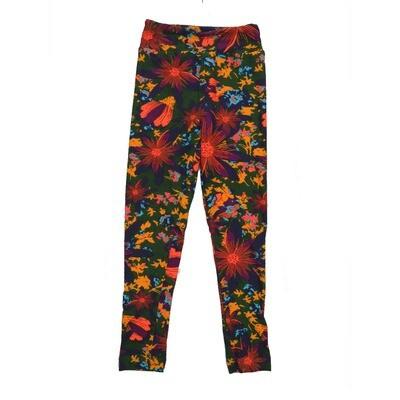 LuLaRoe Kids Small-Medium Floral Leggings ( S/M fits kids 2-8 ) SM-1006-H