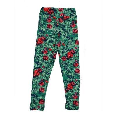 LuLaRoe Kids Small-Medium Floral Paisley Leggings ( S/M fits kids 2-8 ) SM-1007-H