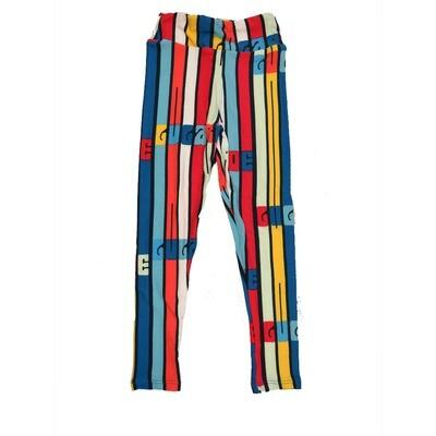 LuLaRoe Kids Small-Medium LuLaRoe Rainbow Stripes Leggings ( S/M fits kids 2-8 ) SM-1005-Y