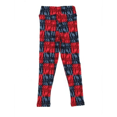 LuLaRoe Kids Small-Medium Tye Dye Checkerboard Leggings ( S/M fits kids 2-8 ) SM-1003-U