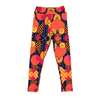 LuLaRoe Kids Small-Medium Geometric Stripe Leggings ( S/M fits kids 2-8 ) SM-1003-T