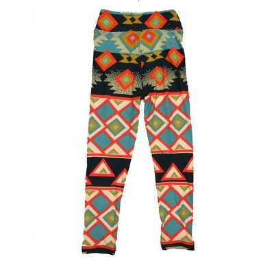 LuLaRoe Kids Small-Medium Geometric Stripe Leggings ( S/M fits kids 2-8 ) SM-1004-V