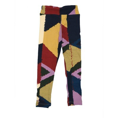 LuLaRoe Kids Small-Medium Geometric Stripe Leggings ( S/M fits kids 2-8 ) SM-1006-C