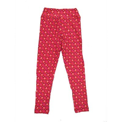 LuLaRoe Kids Small-Medium Geometric Stripe Polka Dot Leggings ( S/M fits kids 2-8 ) SM-1004-Y