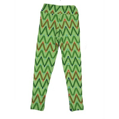LuLaRoe Kids Small-Medium Geometric Zig Zag Leggings ( S/M fits kids 2-8 ) SM-1006-L