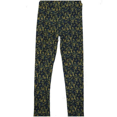 LuLaRoe Kids Large-XL Floral Navy Leggings ( L/XL fits kids 8-14) LXL-2002-V